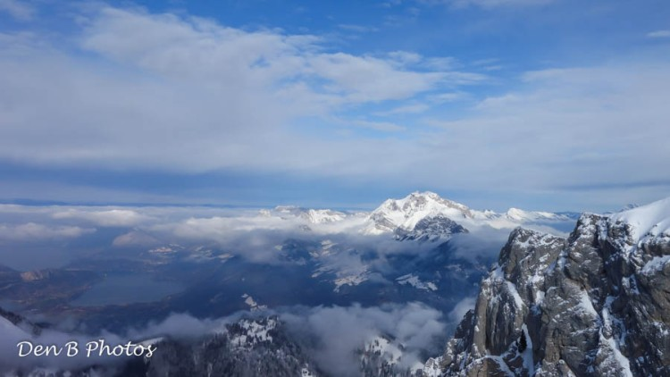 Le lac d'Annecy et le massif de la Tournette